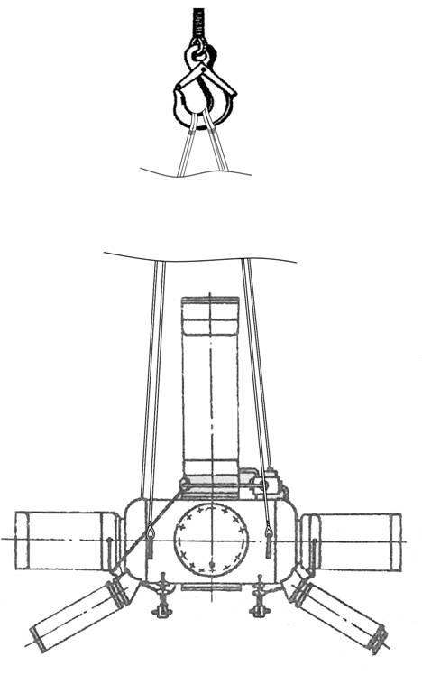 Схема строповки нижней