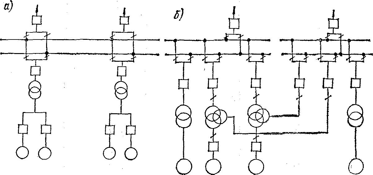 Схема с выключателями между