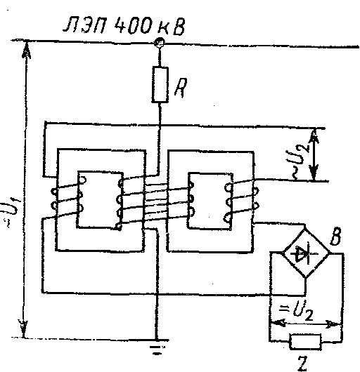 Схема ТПН с последовательно