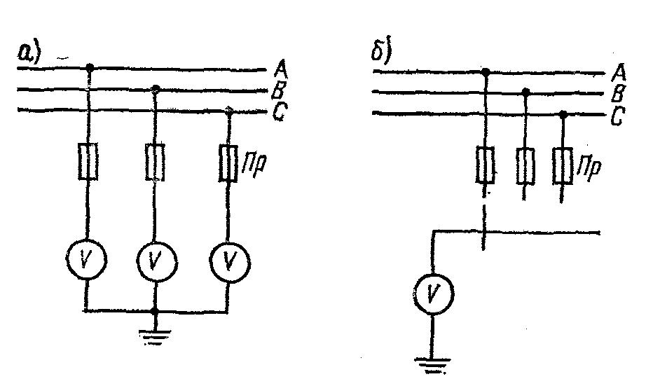 Схема контроля изоляции оргрэс