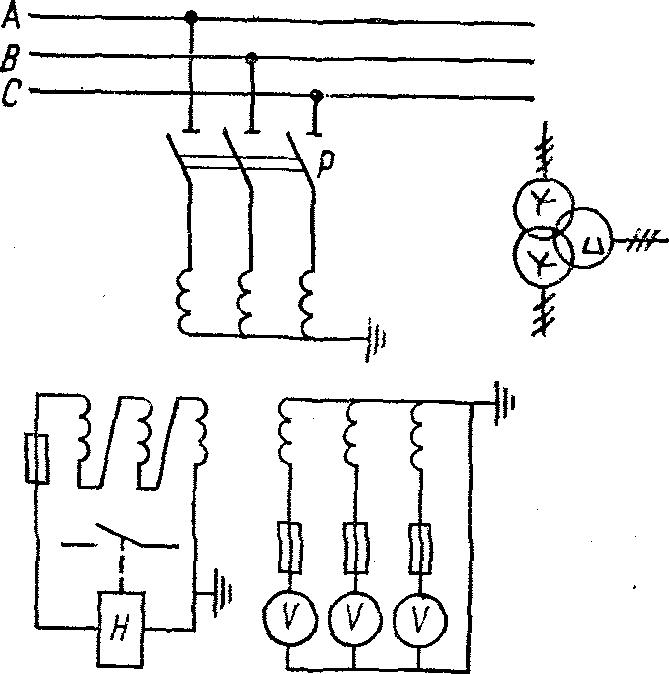 Схема контроля изоляции сети