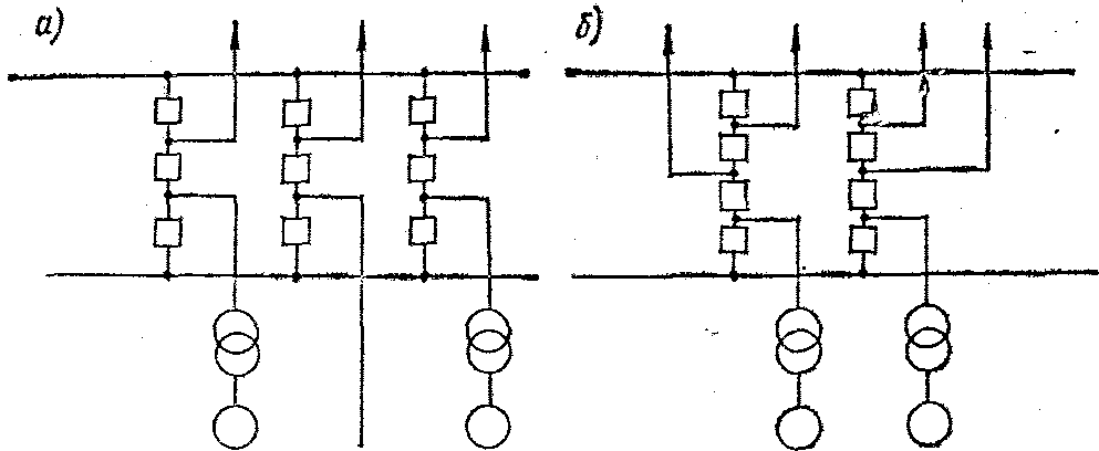 Рис. 2-10, Полуторная схема