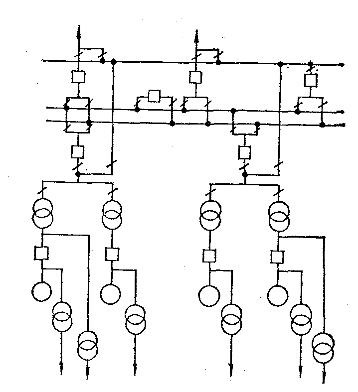 Схема ГЭС со спаренными