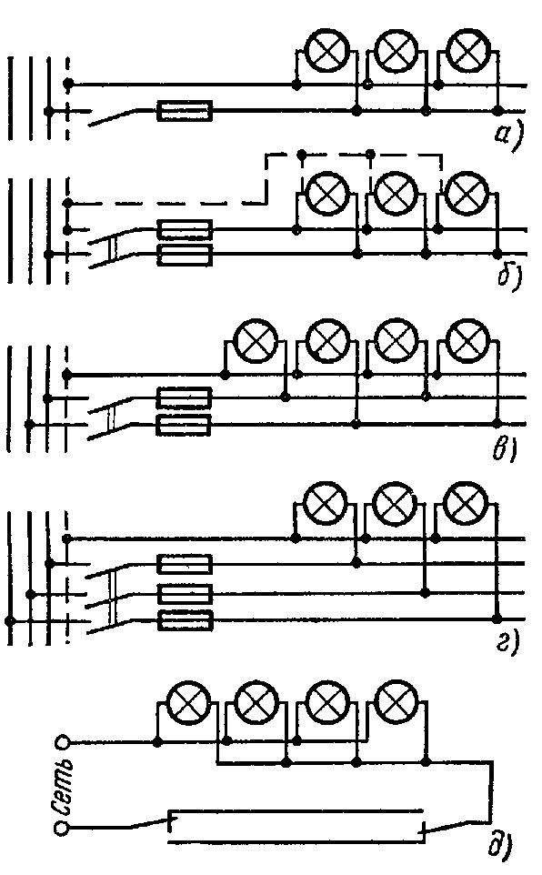 схема управления светильниками