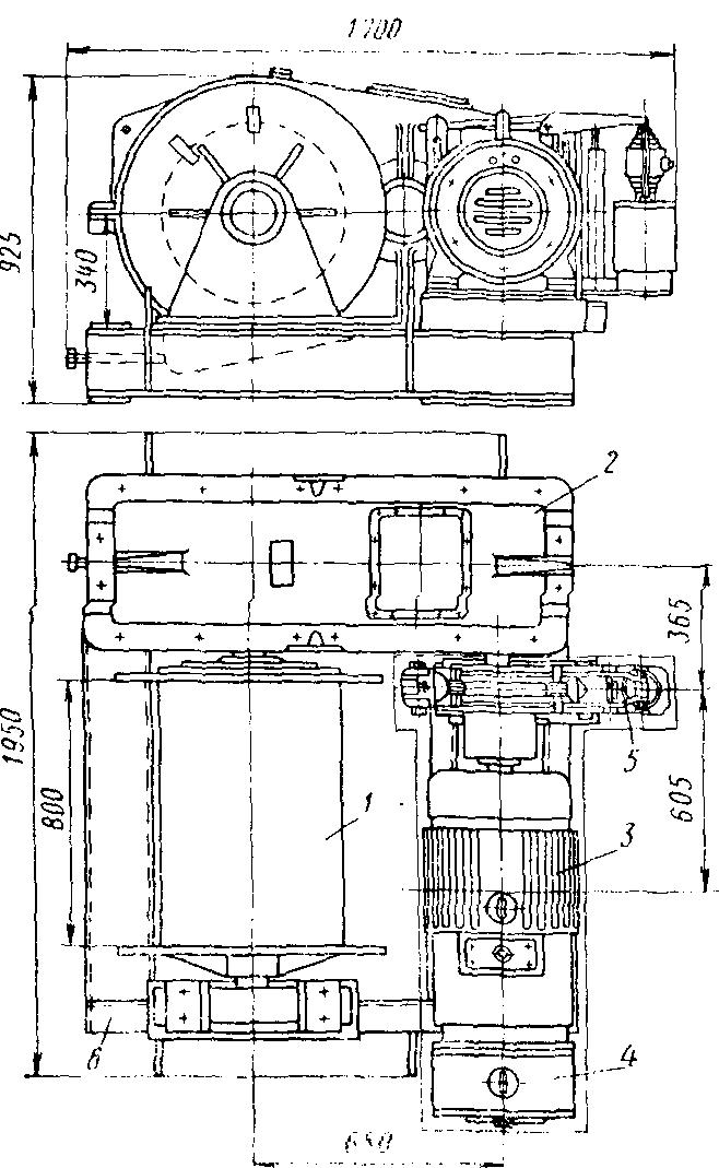 Лебедка грузовая Q — 5 тс с