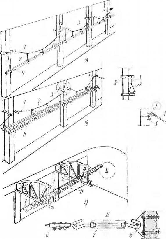 Промежуточная подвеска стальных коробов и лотков на несущих тросах