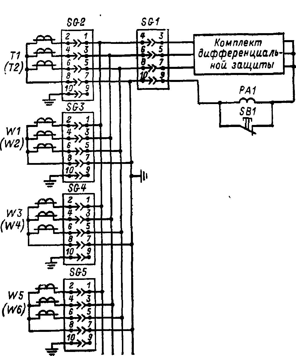 токовые цепи дифференциальной защиты