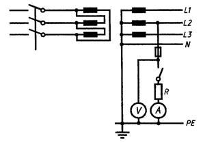 Петля фаза-нуль схема