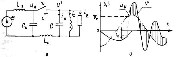 (б) в схеме замещения (а)
