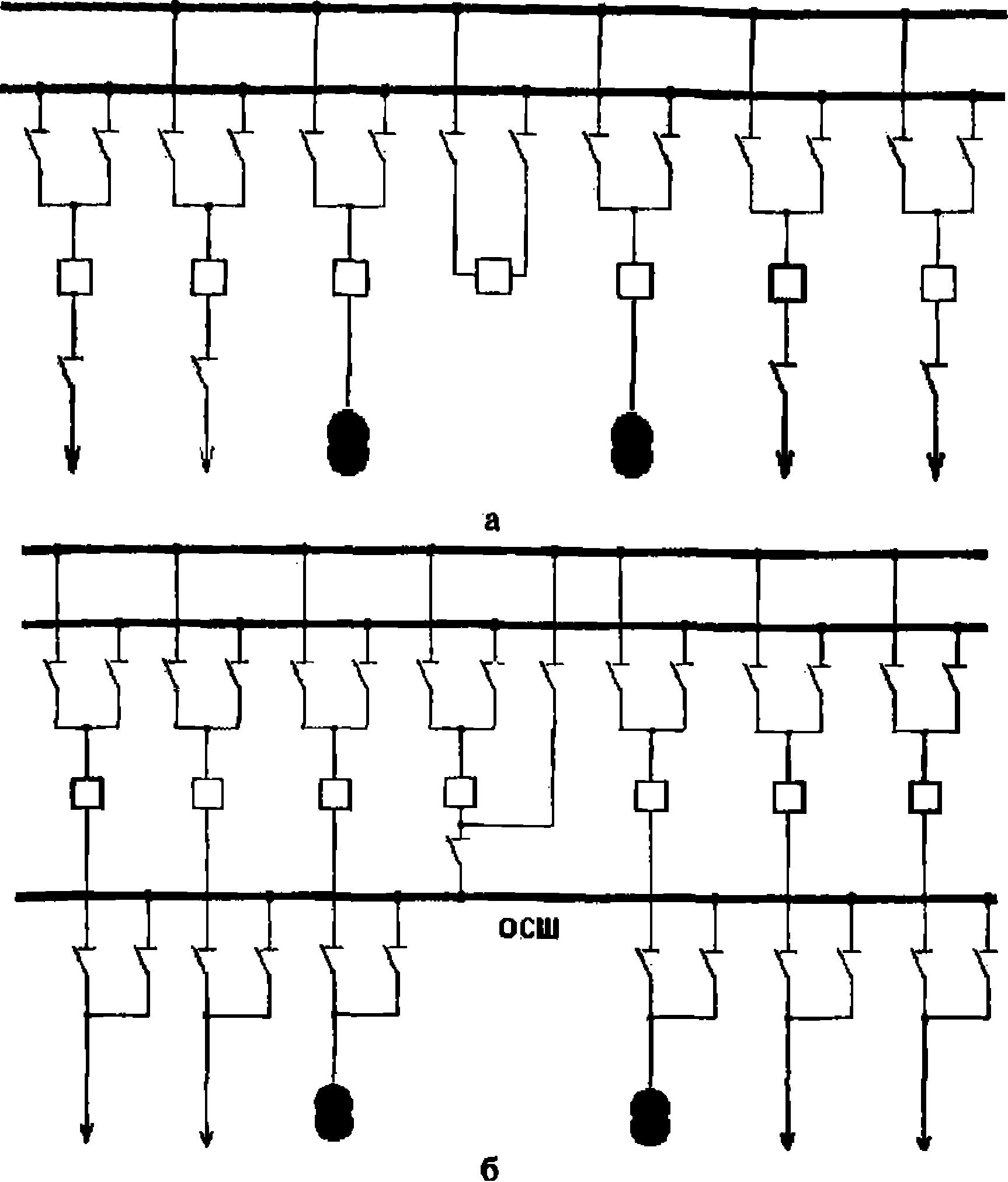 схема соединения квадратом подстанция