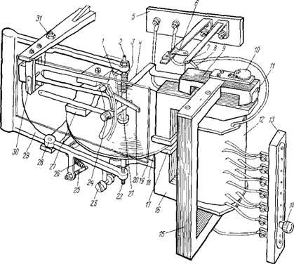 Устройство реле типа РТ-81: