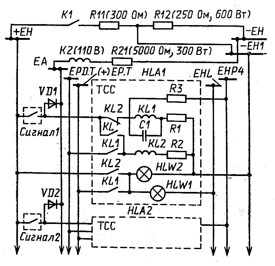 Схема внутренних соединений и