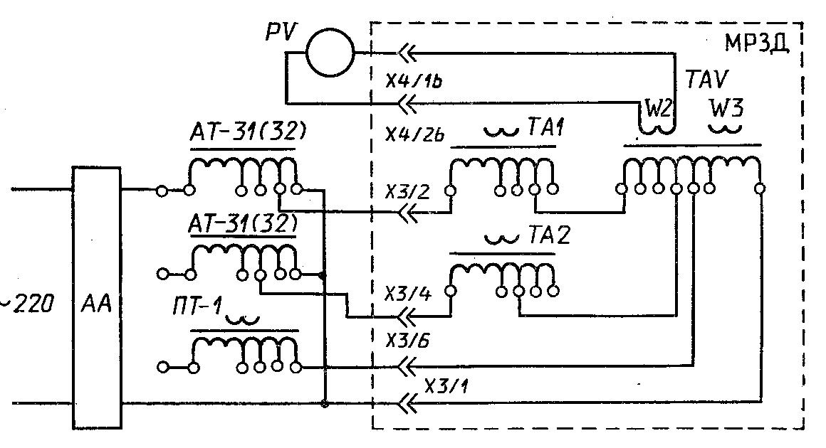 Схема проверки токов