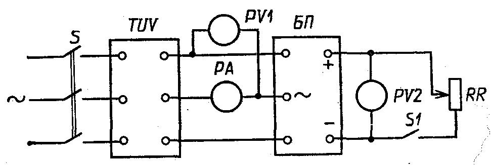 Схема проверки блока питания
