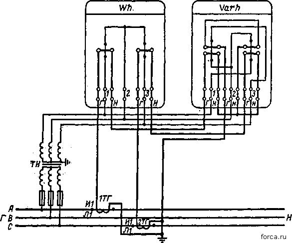 Схема косвенного включения