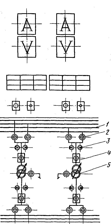 Мнемоническая схема пультов