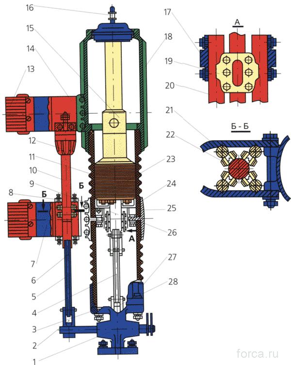 Полюс выключателя ВК - 10 - 31, 5 /3150У2; ВКЭ - 10 - 31, 5/3150У2
