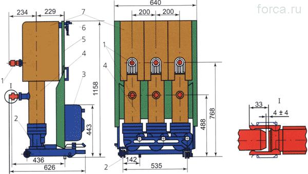 Маломасляный колонковый выключатель ВК-10 до 1600 А